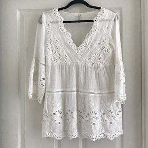 NWOT Raga Embroidered Top White XS